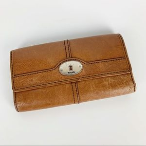 Fossil / Brown Leather Wallet